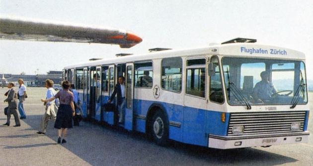Speciální autobus FBW pro letiště vCurychu