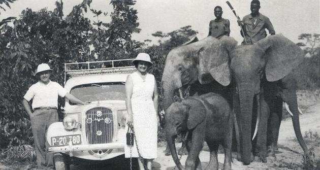 Pohlednice, kterou poslali Škulinovi vlednu 1938 zUgandy doZlína