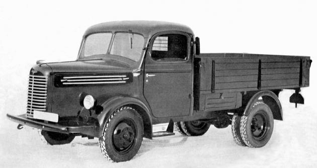 Tovární retušovaná fotografie valníku Škoda 150 zroku 1939