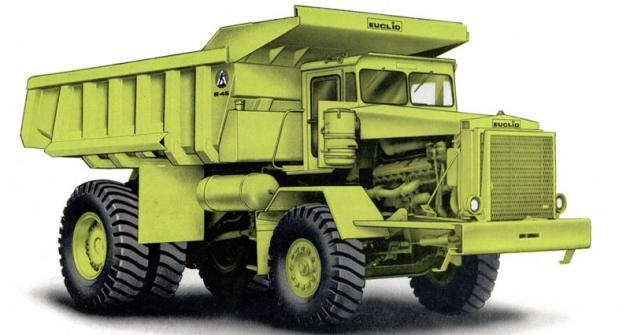Euclid R-45 model B10LD, největší typ nabídky vroce 1964, určený ipro evropský trh