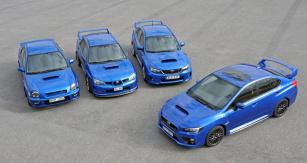 Nová generace Subaru WRX STI se svými předchůdci