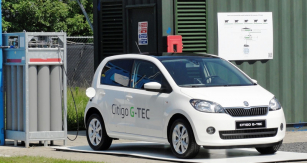 Škoda Citigo G-TEC v závodě Bio Science Center v Lylestadu