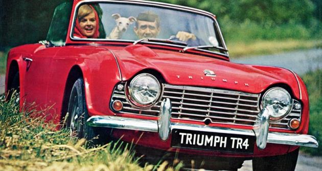 Triumph TR4, první roadster skaroserií podle návrhu Michelotti (1961)