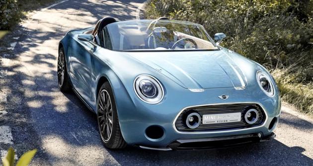 Mini Superleggera Vision, půvabná studie malého roadsteru, která slavila světovou premiéru veVilla d'Este