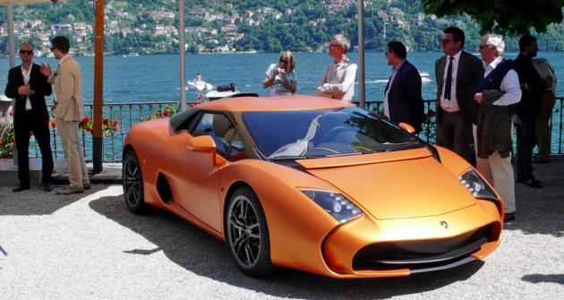 Lamborghini 5-95 Zagato při světové premiéře naSoutěži elegance veVilla d'Este