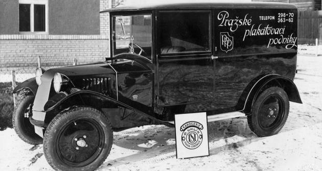Tatra 12 pro Pražské plakátovací podniky (1928)