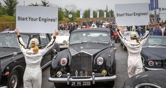 Rolls-Royce adalší vozy vyjíždějí naPebble Beach Tour d'Elegance...