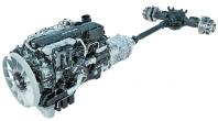 Hnací trakt vozidel modelové řady MAN D38 pracuje jak snovým motorem MAN D3876, ale také automatizovanou převodovkou MAN TipMatic 2 snovým systémem řazení převodových stupňů.