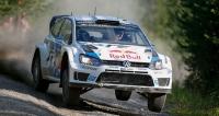 Sébastien Ogier (VW Polo R WRC) veFinsku opravdu létal (dojel druhý, vyhrál Latvala)