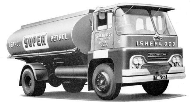 Guy Warrior Mk.II, základ řady nových typů moderního designu, uvedené vroce 1958 (první Warrior sbudkou oblých tvarů je zroku 1955)