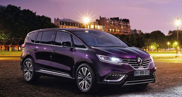 Pátá generace Espace  je automobil luxusního charakteru, zejména vprovedení  Initiale Paris
