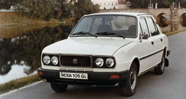 Škoda 105GL, luxusní verze lidového vozu smotorem 1046cm3