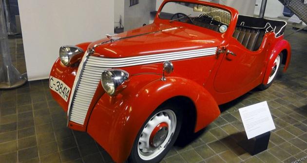 Jawa Minor jako čtyřsedadlový kabriolet (1939)