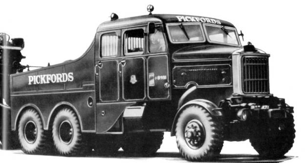 Slavný tahač Super Constructor 6x6 pro firmu Pickfords (přes 200 tun)