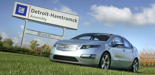 Chevrolet Volt, nejslavnější produkt závodu General Motors vdetroitském Hamtramcku