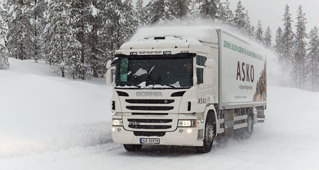 Scania P 340 4x2 – distribuční vozidlo spohonem na zemní plyn (CNG)
