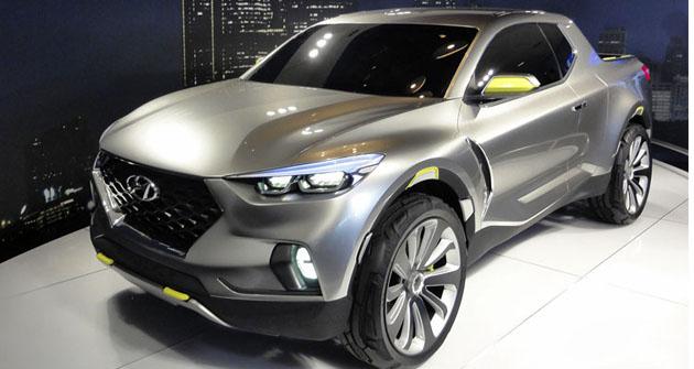 Hyundai Santa Cruz Concept při premiéře naautosalonu vDetroitu (2015)