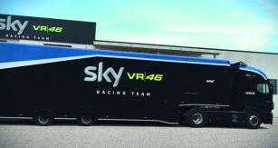 Vozy značky Iveco jsou iletos vautoparku závodního týmu SKY VR46.