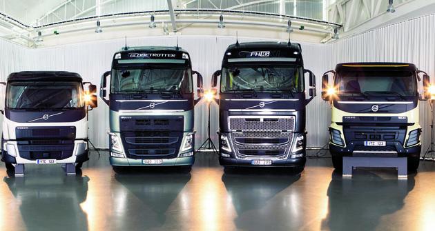 Vdesignérském studiu společnosti Volvo Trucks se vytvářejí hliněné modely celé nové řady nákladních vozidel vplném měřítku.