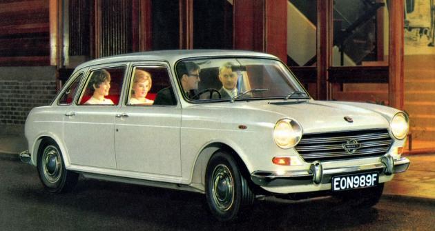 Morris 1800, značková verze Vozu roku 1964/1965 (1966 – 1973, vyobrazený Mk.II odkvětna 1968)