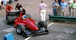 Graeme Wight jr.  (Gould GR51 Cosworth 2.5 V6), úspěšný jezdec anyní konstruktér GWR