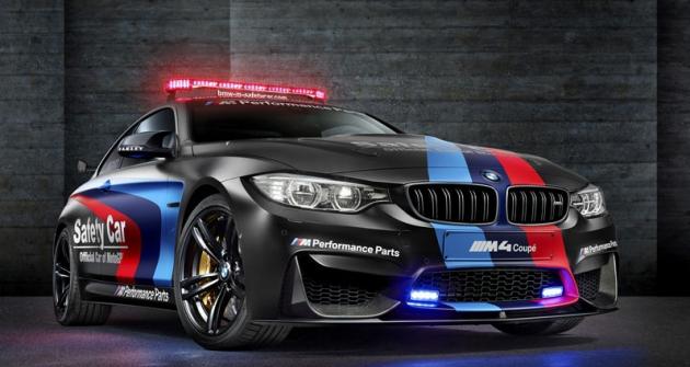 BMW M4 Coupé Safety Car pro MotoGP využívá vstřikování vody doválců