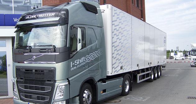 Testovaná souprava Volvo FH 500