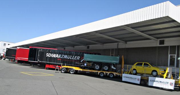 Vystavená vozidla Schwarzmüller
