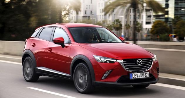Mazda CX-3 slavila světovou premiéru naautosalonu vLos Angeles koncem roku 2014; nyní přichází doEvropy