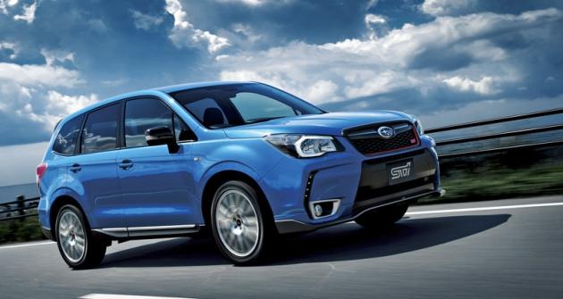 Subaru Forester tS  je výsledkem spolupráce  se sportovním  oddělením STI  (Subaru  Tecnica International)