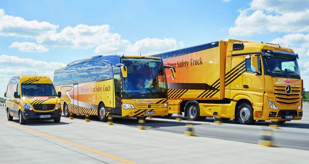 Vozidla koncernu Daimler jsou napředním místě také co se týče bezpečnosti provozu.