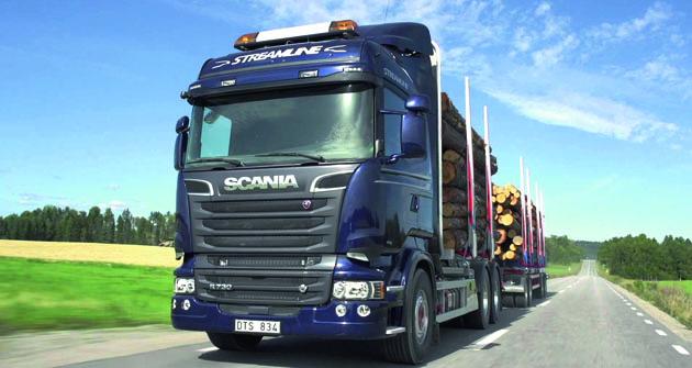 Tahače Scania smotory V8 brázdí silnice pocelém světě.