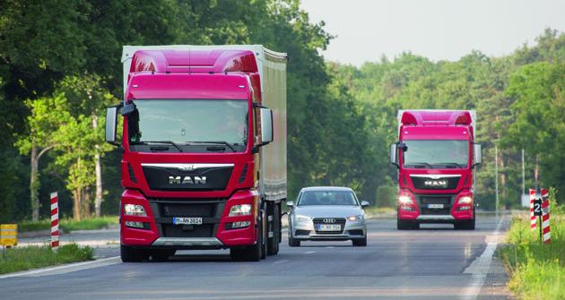 Nová generace elektronických asistenčních systémů MAN přináší dosilničního provozu vyšší míru bezpečnosti.