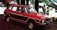 Subaru 4WD Wagon, první velkosériový spohonem předních apřiřaditelným pohonem zadních kol (od1972, nasnímku model 1977)