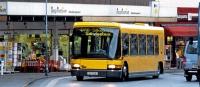 Originální DAB Servicebus, nízkopodlažní svariabilním interiérem avestavěnou rampou pro přepravu osob  nainvalidních vozících