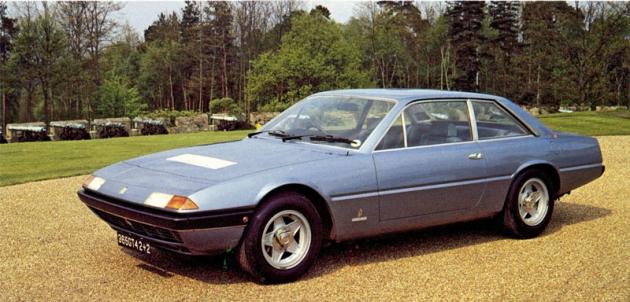 Ferrari 365 GT4 2+2,  první typ nové řady,  který se o čtyři roky později stal základem prvního Ferrari se samočinnou převodovkou