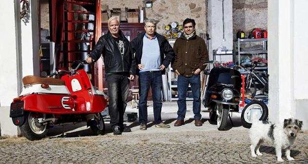 Lutz Buennagel, Neil Smith  aAlex Monestier,  představitelé firmy Čezeta Motors