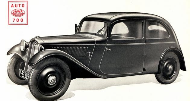 Uzavřená Jawa 700 vprovedení zroku 1935