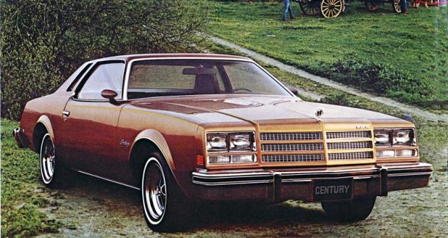 Buick Century Custom Coupe model 1976