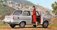 Sabra (Autocars) Carmel 12, vroce 1965 představený izraelský vůz smotorem Ford 115E (1198cm3) alaminátovou karoserií
