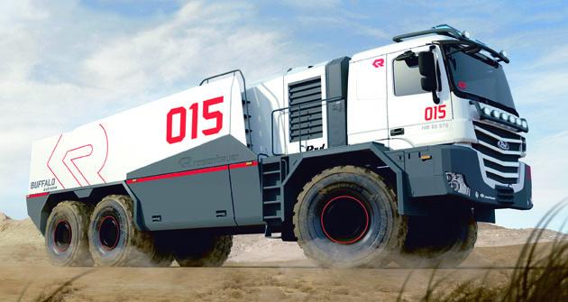 """Základem je třínápravový  podvozek Paul Nutzfahrzeuge  """"Heavy Mover""""."""