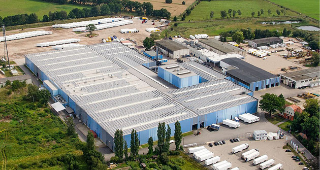 Továrna Krone na výrobu chladírenských návěsů v německém Lübtheenu