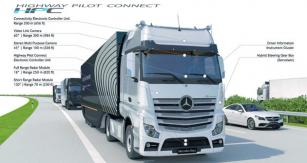 Důležité součásti systému HP Connect: Elektronická řídící jednotka konektivity  (dosah 200 m), Video kamera (600, dosah 300 m),  Stereo multifunkční kamera (450, dosah 100 m), Řídící jednotka systému HP Connect, Dálkový radar (180, dosah 250m), Radar pro krátkou vzdálenost (1300, dosah 70 m), Přístrojová ainformační  deska řidiče, Servotwin – hybridní modul řízení.