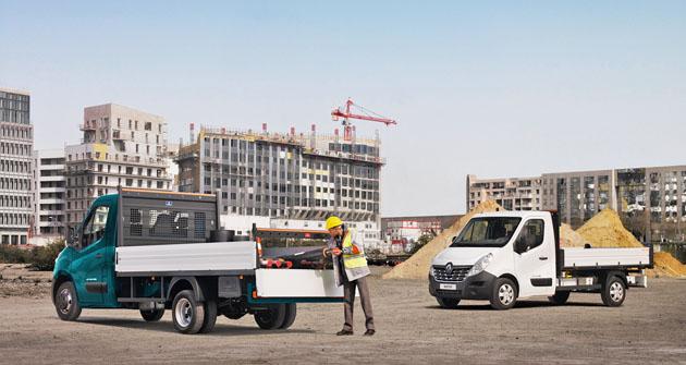 Podvozky Renault Master EU 6 sdvoumontáží kol na zadní nápravě jsou vcelkové hmotnosti až 4,5 tuny