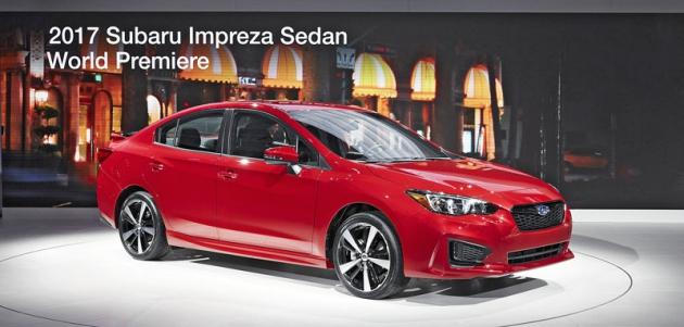 Subaru Impreza skaroserií sedan naznačuje možné tvary budoucích sedanů WRX  a WRX STI