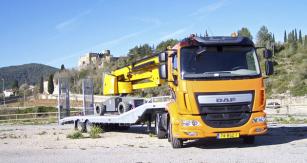 Testovaná souprava DAF LF 250 FT 4x2 EU6