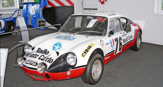 Sportovní legenda  CG 2200 Simca Proto MC, vítěz mnoha automobilových soutěží počátku sedmdesátých let