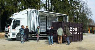 """Debna na prevoz  hrocha váži 2500 kg,  s konkrétnym  """"nájomníkom""""  potom 3500 kg."""