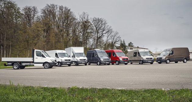Flotila Sprinterů všech hmotností připravená kjízdám