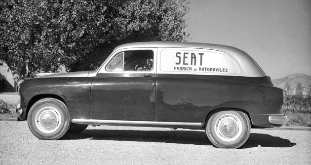 Seat 1400 jako furgon pro servisní služby dealerství Seat